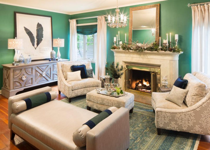 Small Turquoise Living Room