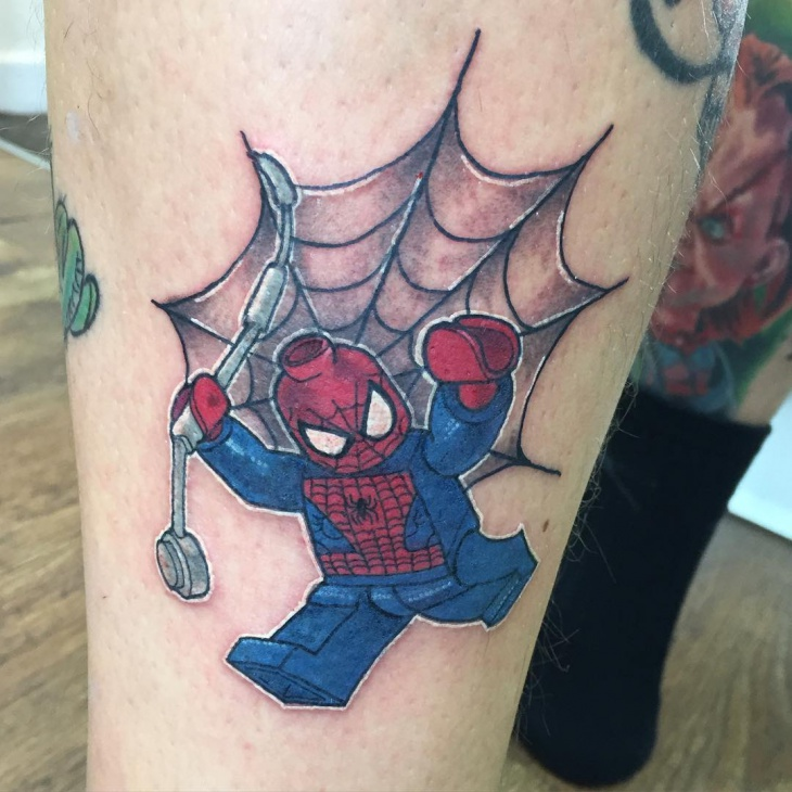 Spiderman Web Tattoo
