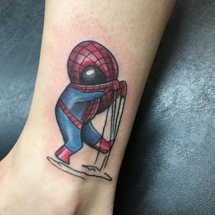 Cute Spiderman Tattoo