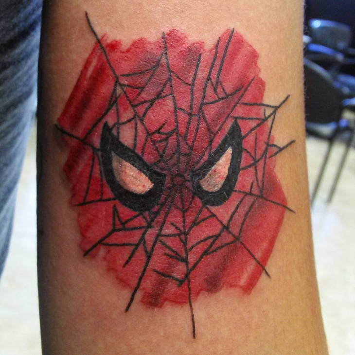 Spiderman Eye Tattoo