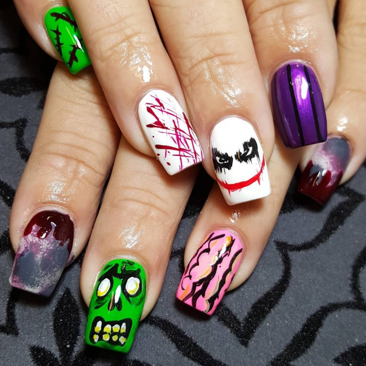 Halloween Zombie Nail Art - 21+ Zombie Nail Art Designs, Ideas Design Trends - Premium PSD