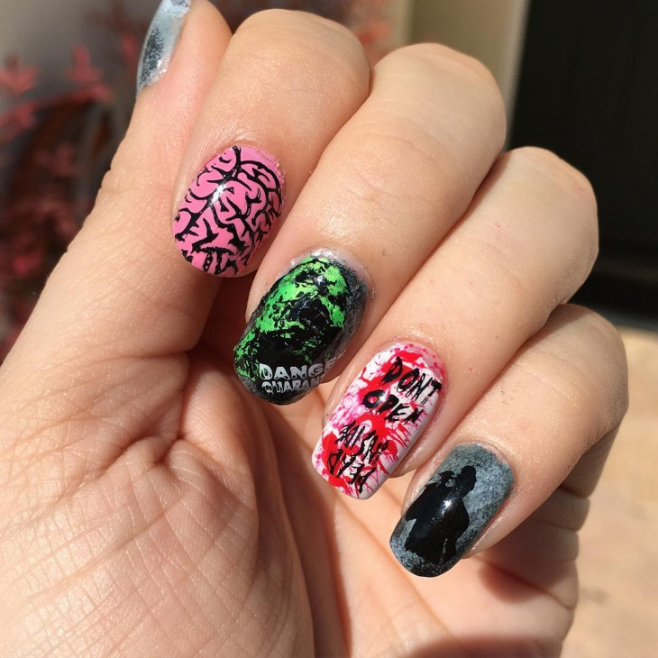 Easy Zombie Nail Art - 21+ Zombie Nail Art Designs, Ideas Design Trends - Premium PSD