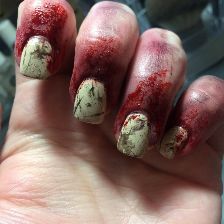 Blood Splatter Zombie Nails