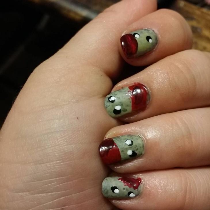 Cartoon Zombie Nails