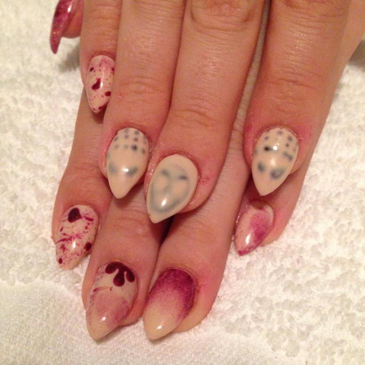 Pointy Zombie Nail Design