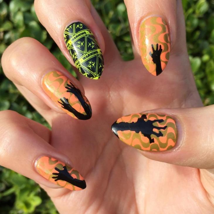 Sharp Zombie Nail Design