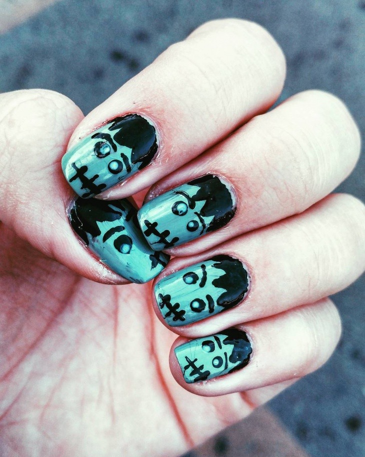 Neo Zombie Nail Art