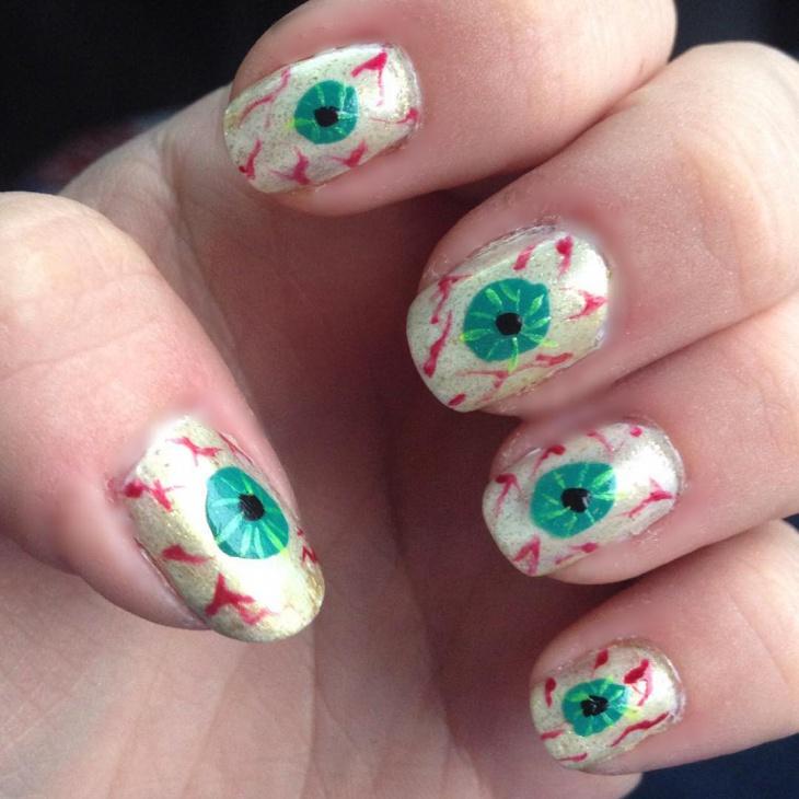 Zombie Eye Nail Art