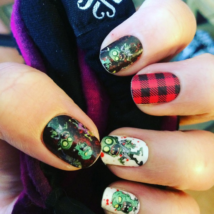 21 zombie nail art designs ideas design trends premium psd scary zombie nail design prinsesfo Images