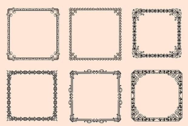 vintage frame vectors