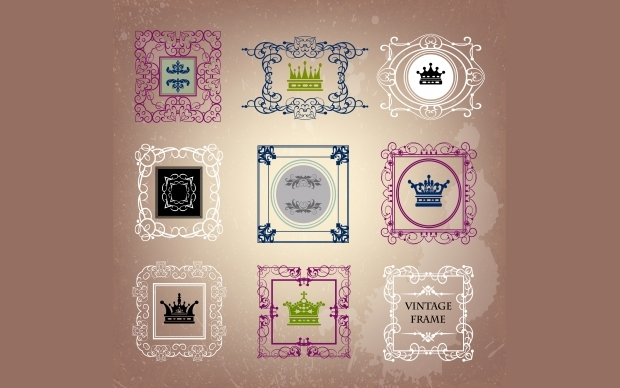 free vintage frame collection vector