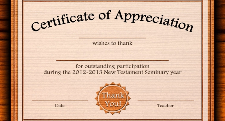 Certificate of appreciation psd word designs design trends certificate of appreciation templates yadclub Gallery