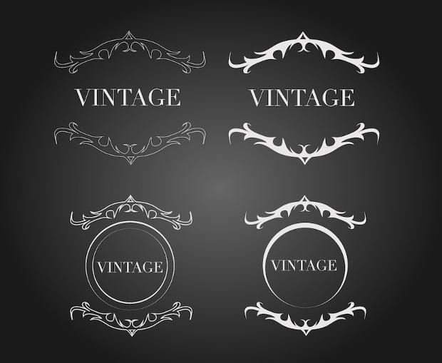 vintage label crest vector