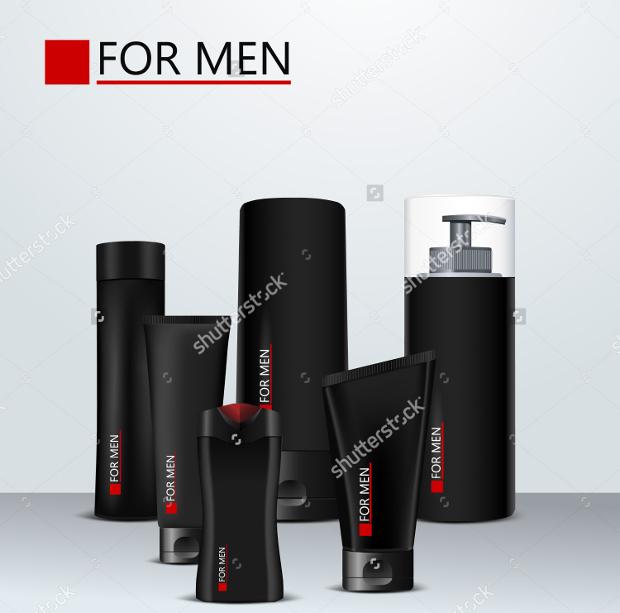 men cosmetics packaging design