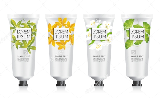 lotion packaging template