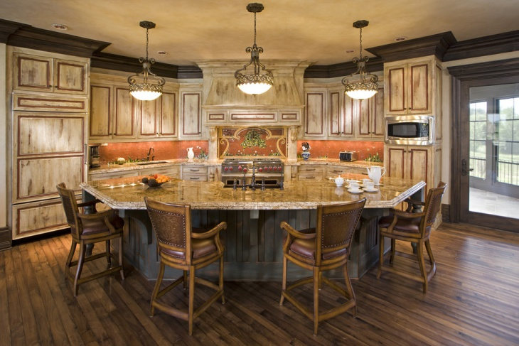 18 curved kitchen island designs ideas design trends for Unique kitchen island shapes