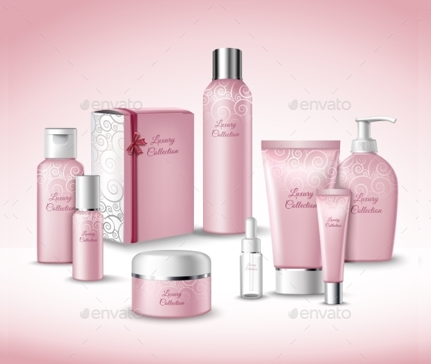 luxury collection of cosmetic packaging set
