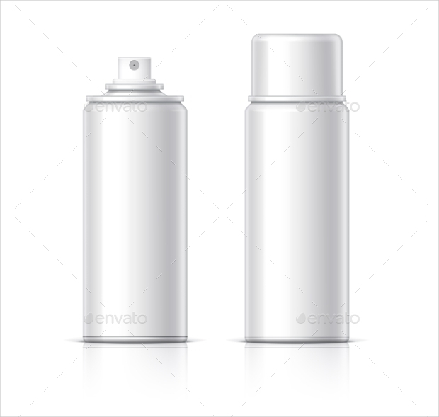 glass cosmetic packaging template