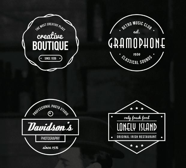vintage badges vector illustration
