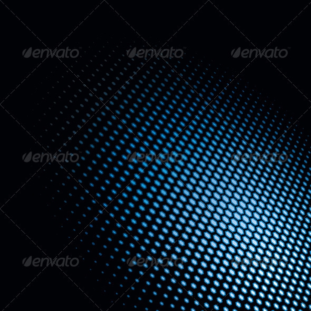 Hexagonal Dots Vector