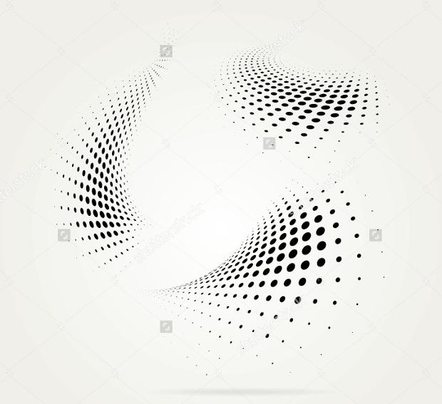 halftone dots vector1