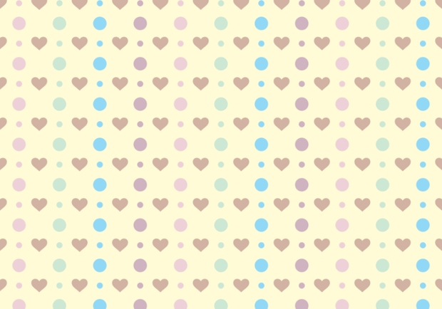 Polka Dots & Cute Hearts Vector