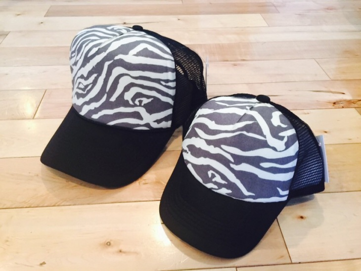 Zebra Print Hat Design
