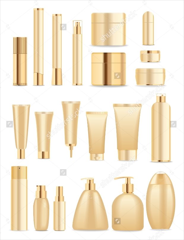 Gold Color cosmetic tubes Packaging
