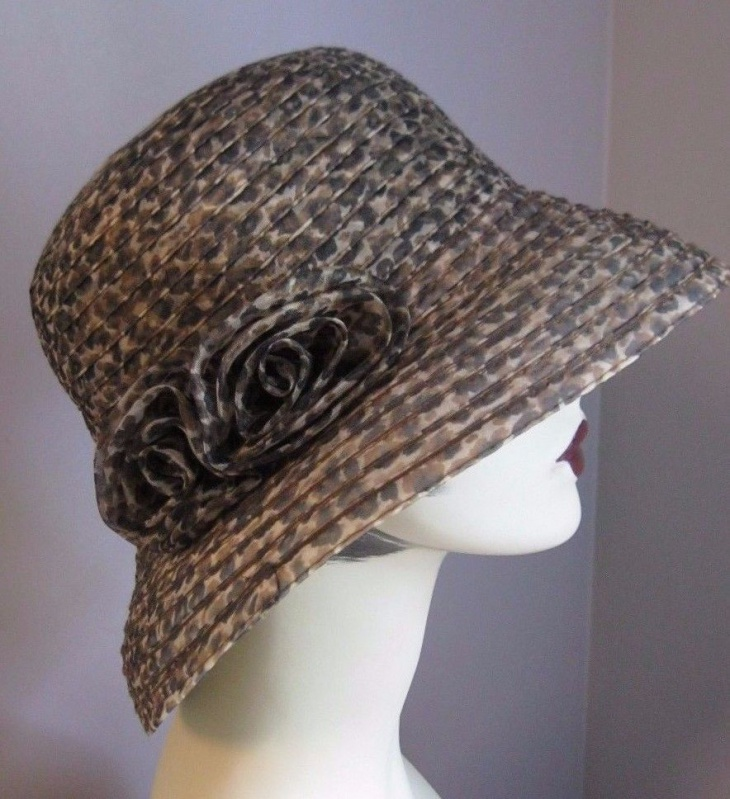 animal print safari hat