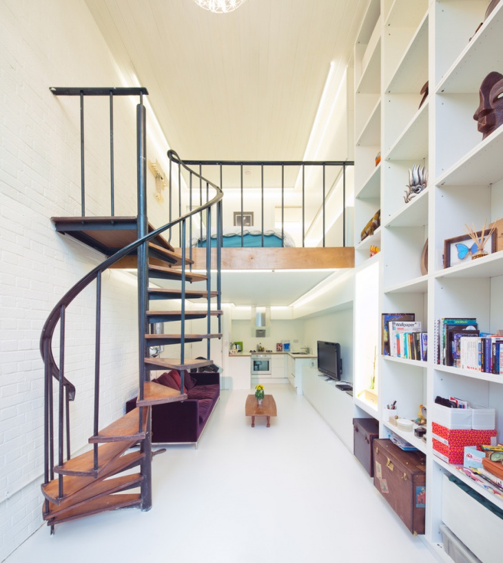 Compact Loft Staircase