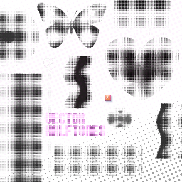 dotted halftone vectors