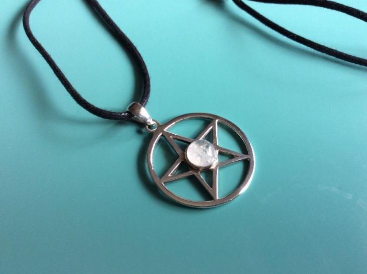 Moonstone Pentagram Pendant