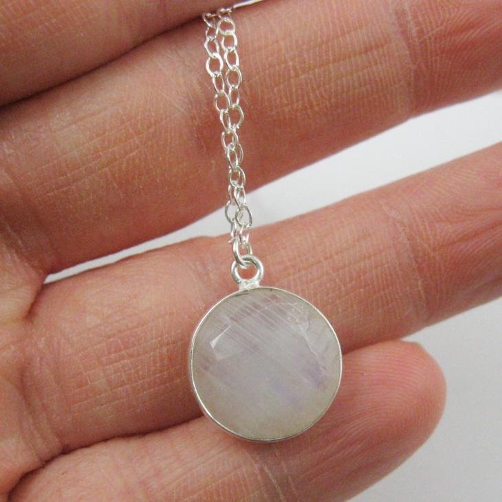 Round Moonstone Pendant