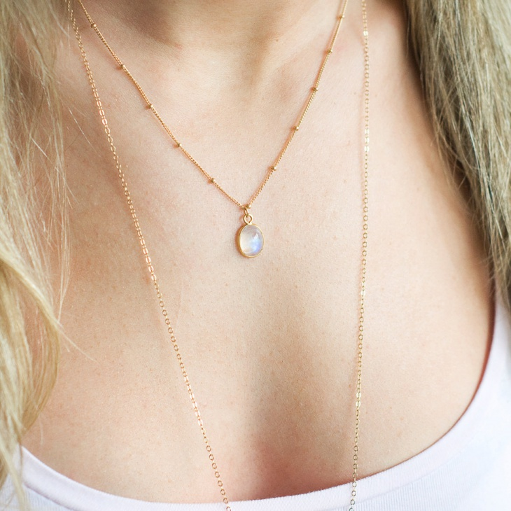moonstone satellite pendant