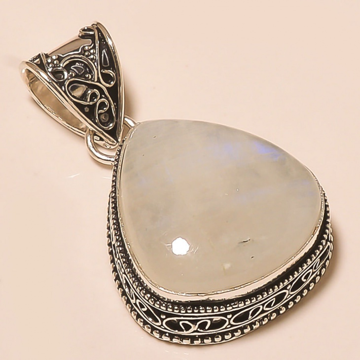 marvelous silver moonstone pendant