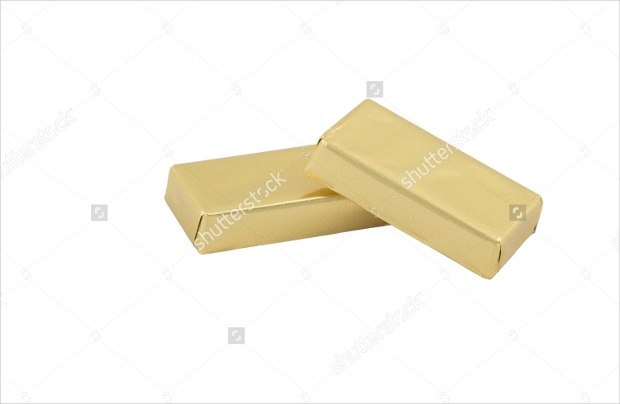 packages of Chocolate candy in golden foil