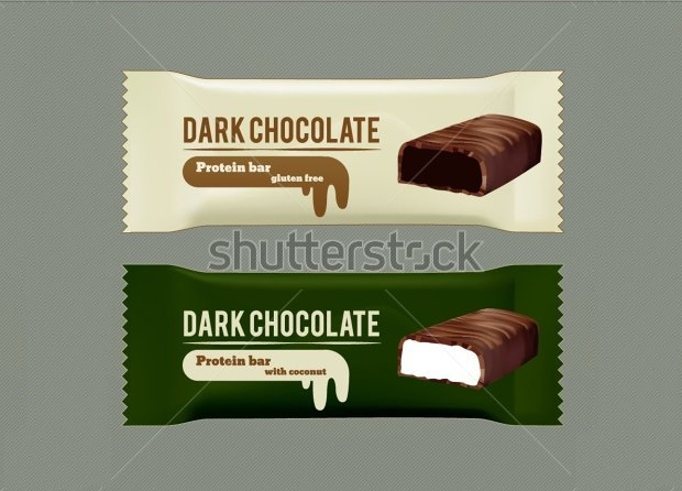 vector dark chocolate wrapper packaging