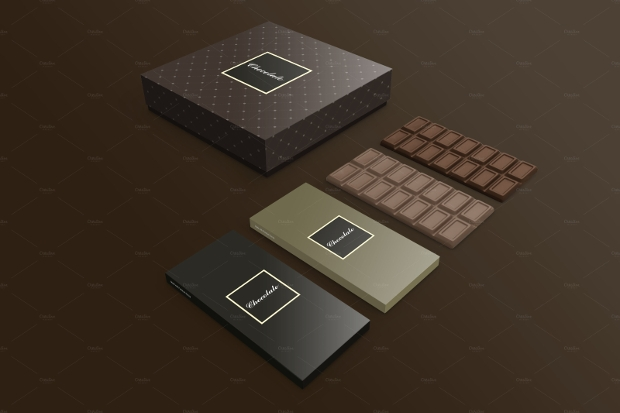 Modern Classic Chocolate Box Package
