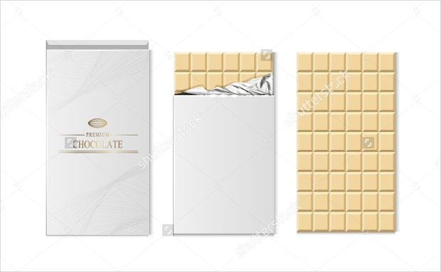 Chocolate bar package Vector