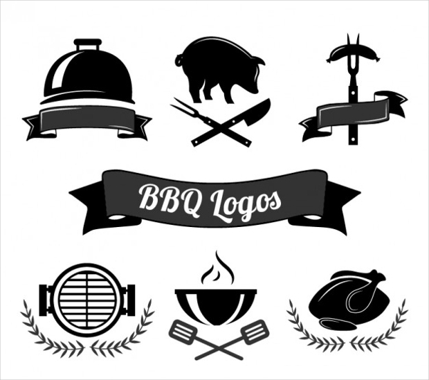 Barbecue Cooking Logo Collection