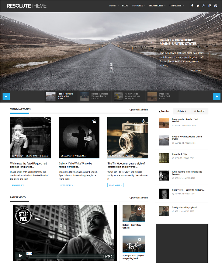 elegant magazine blog theme