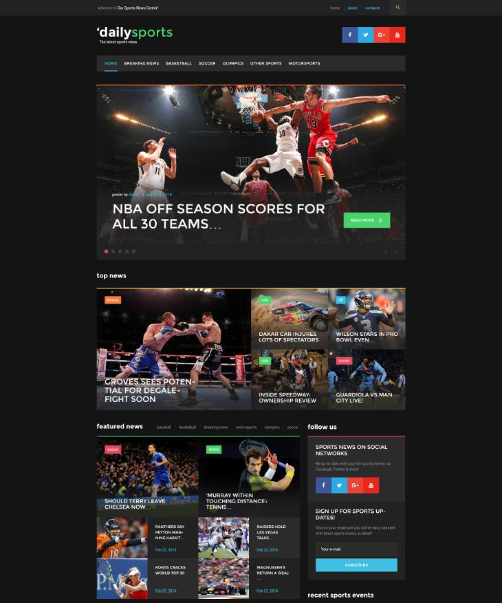 sport magazine blog wordpress theme