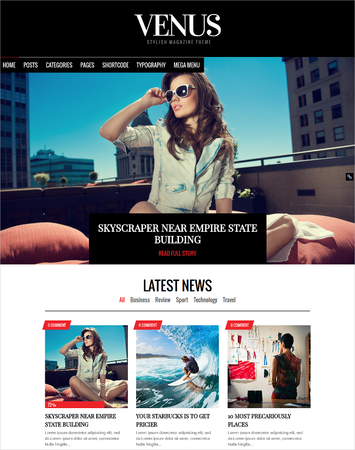 responsive news magazine blog theme