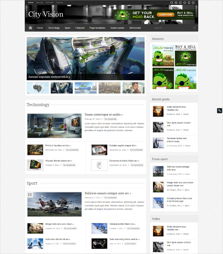 city vision magazine blog theme