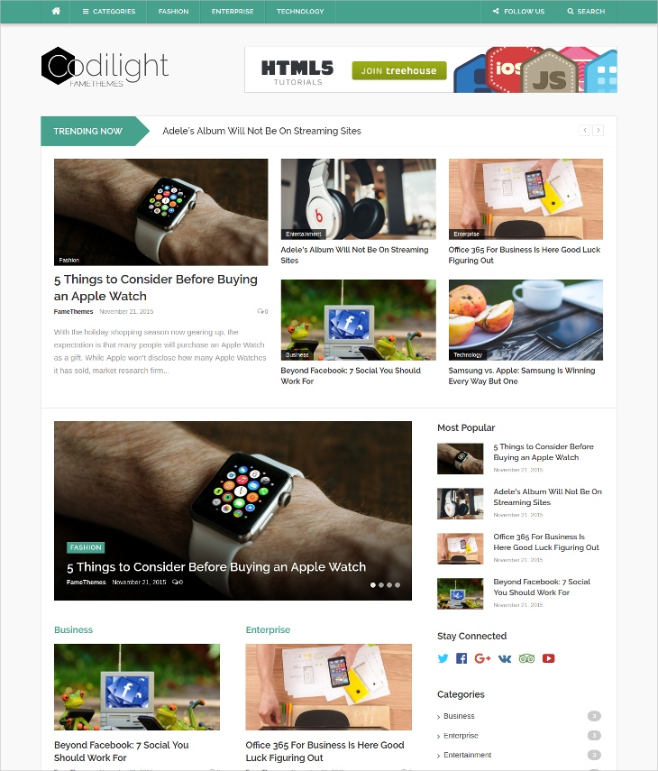 responsive magazine blog theme