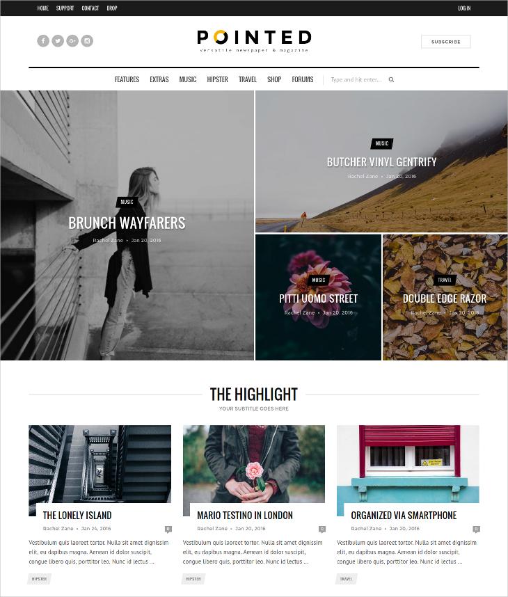 versatile blog news magazine theme
