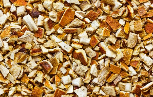 Dry Orange Peels Texture
