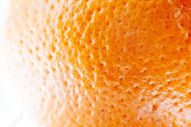Bright Orange Peel Texture