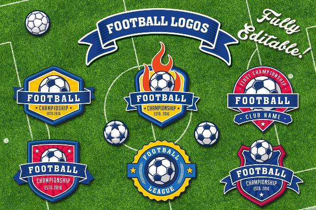 Football and Soccer Logos Collection