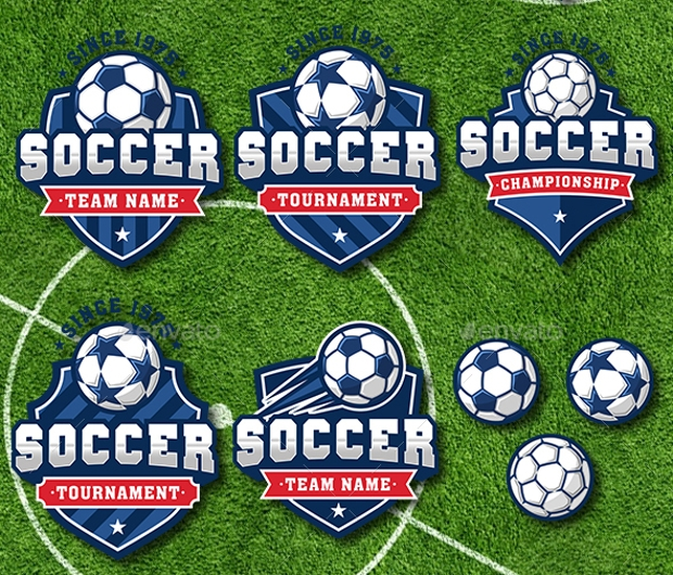 Soccer Football Logo Set